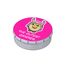 Cute Baby Owl Jelly Belly Tin