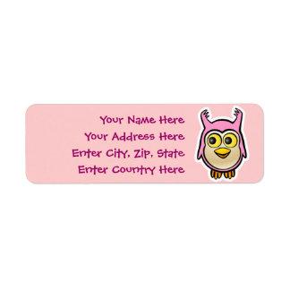 Cute Baby Owl Label