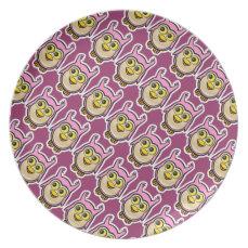Cute Baby Owl Melamine Plate