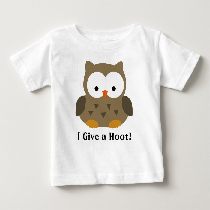Cute Baby Owl Personalized Baby T Shirt Zazzle