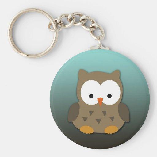 Cute Baby Owl Personalized Keychain