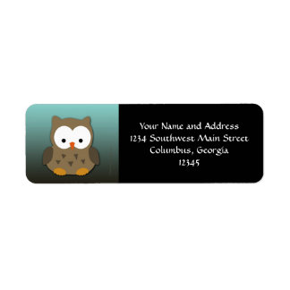 Cute Baby Owl Personalized Label