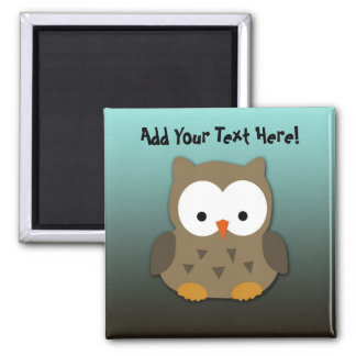 Cute Baby Owl Personalized Magnet