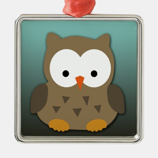 Cute Baby Owl Personalized Metal Ornament