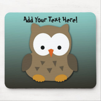 Cute Baby Owl Personalized Mouse Pad