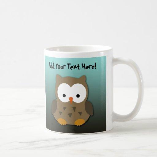 Cute Baby Owl Personalized Coffee Mug