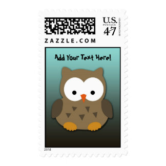Cute Baby Owl Personalized Postage