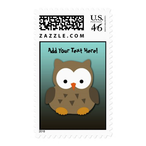Cute Baby Owl Personalized Stamps