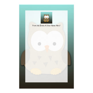 Cute Baby Owl Personalized Personalized Stationery