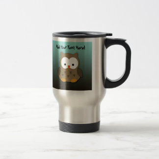 Cute Baby Owl Personalized Travel Mug