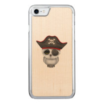 Cute Baby Owl Pirate Carved iPhone 7 Case