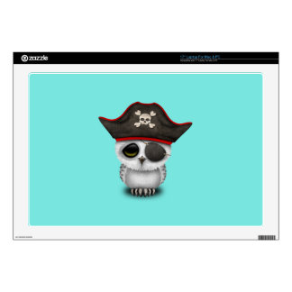 Cute Baby Owl Pirate Decals For Laptops