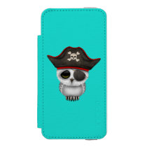 Cute Baby Owl Pirate iPhone SE/5/5s Wallet Case
