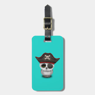 Cute Baby Owl Pirate Luggage Tag