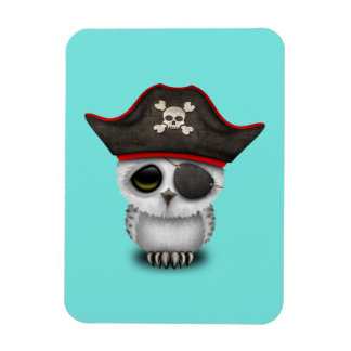 Cute Baby Owl Pirate Magnet