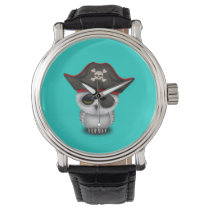 Cute Baby Owl Pirate Wrist Watch