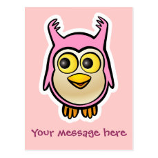 Cute Baby Owl Postcard