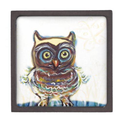 cute baby owl premium keepsake boxes
