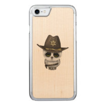 Cute Baby Owl Sheriff Carved iPhone 7 Case
