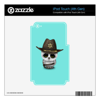 Cute Baby Owl Sheriff Decals For iPod Touch 4G