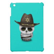 Cute Baby Owl Sheriff iPad Mini Cases