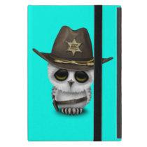 Cute Baby Owl Sheriff iPad Mini Cover