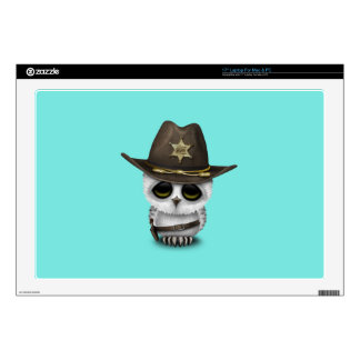 Cute Baby Owl Sheriff Skin For Laptop