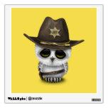 Cute Baby Owl Sheriff Wall Sticker