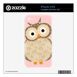 Cute baby owl skin for iPhone 4