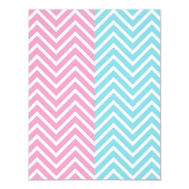 Cute Baby Owl Theme Chevron Gender Reveal Party Card | Zazzle