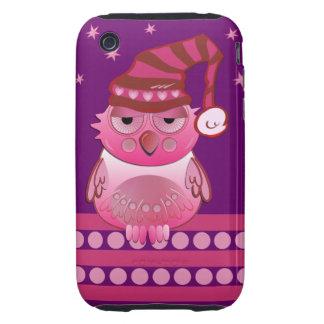Cute Baby Owl with Nightcap iPhone 3 case