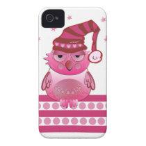 Cute Baby Owl with Nightcap iPhone 4 case