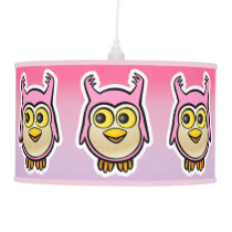 Cute Baby Owls Cartoon Hanging Lamp