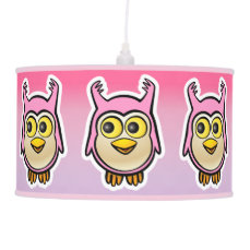 Cute Baby Owls Cartoon Hanging Lamp