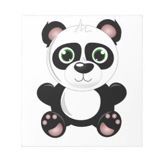 Cute baby panda animation cartoon illustration notepads