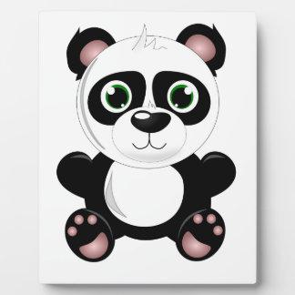 Cute baby panda animation cartoon illustration display plaques
