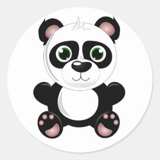 Cute baby panda animation cartoon illustration stickers