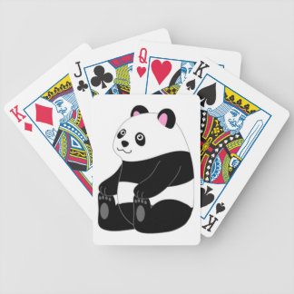 Cute Baby Panda Bicycle Playing Cards