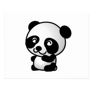 Cartoon Baby Panda Postcards Zazzle