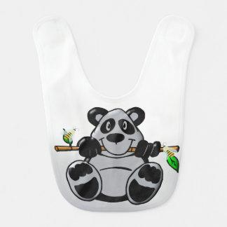 Cute Baby Panda Eating Bamboo Baby Bib