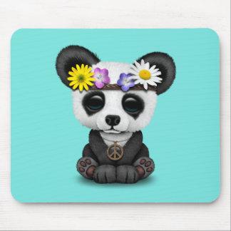 Cute Baby Panda Hippie Mouse Pad