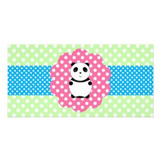Cute baby panda picture card