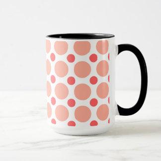 Cute Baby Panda; Pink & Coral Polka Dots Mug
