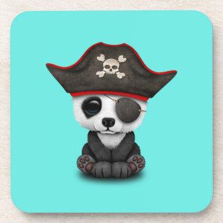 Cute Baby Panda Pirate Coaster