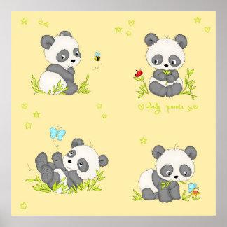 Cute Baby Panda Poster