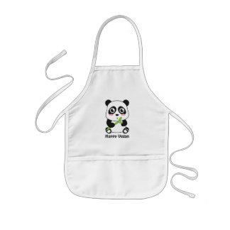 Cute Baby Panda Vegan Kids Apron
