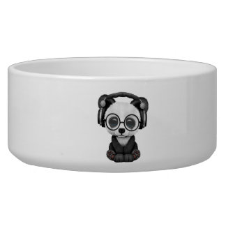 Cute Baby Panda Wearing Headphones Bowl