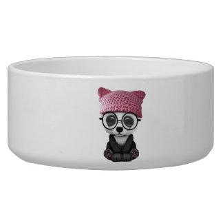 Cute Baby Panda Wearing Pussy Hat Bowl