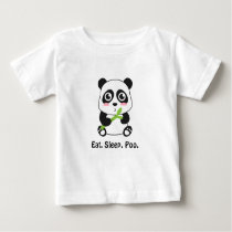 Cute Baby Panda with Funny Text Baby T-Shirt