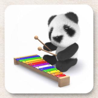Cute Baby Panda Xylophone 3d Beverage Coaster